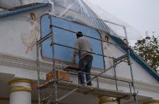 С 25 октября начата реставрация иконы Успения святой Богоматери Марии при входе в церковь