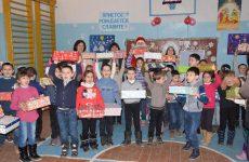 (ФОТО) 230 учеников начальных классов лицея им. С. И. Барановского получили Рождественские подарки от примэрии