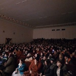Полный зал односельчан собрал праздничный концерт к 8 марта в Доме Культуры с. Копчак