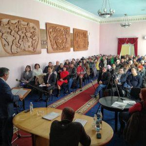 (ВИДЕО) Олег Гаризан отчитался перед жителями о проделанной работе в качестве примара за 2017 год
