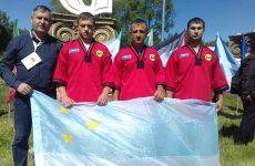 Команда из Молдовы приняла участие в чемпионате мира по татарской борьбе на поясах Корэш
