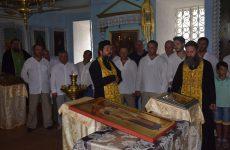 Икона святого Феофила Мироточивого доставлена в храм Копчака со святой горы Афон