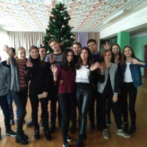 Молодежь из Белоруссии находившаяся в Копчаке с туристическим визитом поздравила жителей Копчака с Новым Годом