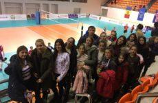 Женская волейбольная команда ДЮСШ с. Копчак посетила волейбольный матч отборочного тура Чемпионата Европы 2019