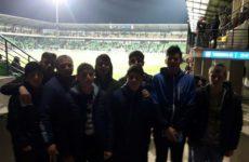 22 марта футбольная команда с.Копчак посетила отборочный матч чемпионата Европы