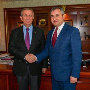 25 апреля 2019г. состоялась встреча примара с.Копчак Олега Гаризан и мэра г.Анкара Мансур Яваш