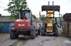 Примэрия приступила к строительству улицы Щусева в бетонном покрытии