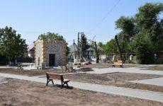 Завершающий этап строительства бювета