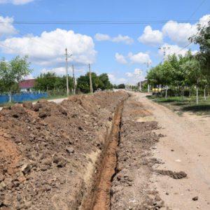 По улице Димитрова проводится новый водопровод