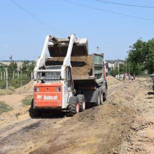 Полным ходом идёт строительство переулка улицы Димитрова