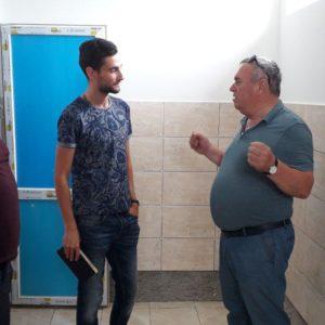 3 августа, в субботу было проведено инспектирование трех строящихся санузлов в обоих лицеях Копчака