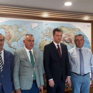 Олег Гаризан в Турции встретился с главой TİKA Серканом Кайалар обсудив строительство второго этажа спорткомплекса