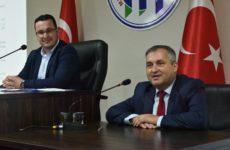 Олег Гаризан выступил на ноябрьском заседании муниципалитета Мустафакемальпаша