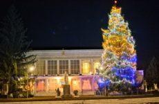Самая высокая ель в Молдове зажгла свои новогодние огни в Копчаке