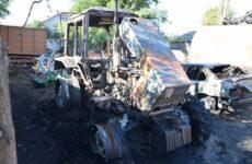 В Копчаке совершен поджог трактора, принадлежащего одному из арендаторов