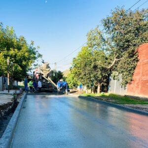 В с. Копчак ремонтируется ул. Комсомольская в бетонном варианте