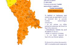 В центральной и южной частях Молдовы обьявлен оранжевый код метеоопасности.
