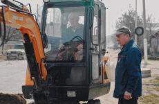 В Копчаке продолжаются работы по строительству канализационных сетей и водопровода