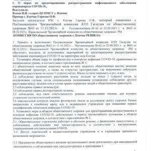 (doc) Заседание комиссии по общественному здоровью с. Копчак